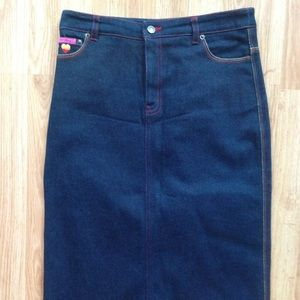 Betsey Johnson Skirts - NWOT Denim Skirt Sz S